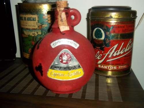 botella 19 cm alto x15 ancho  capitan de castilla retroclási