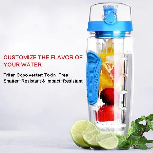 botella agua infusor fruta fitness niños oficina gym yoga 1l