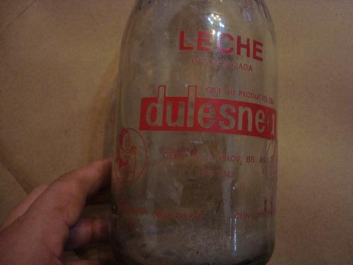 botella antigua de leche dulesnea de 1 litro