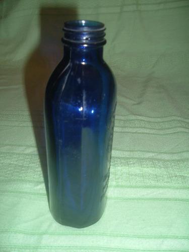 botella azul cobalto de  leche magnesia  (antigua)