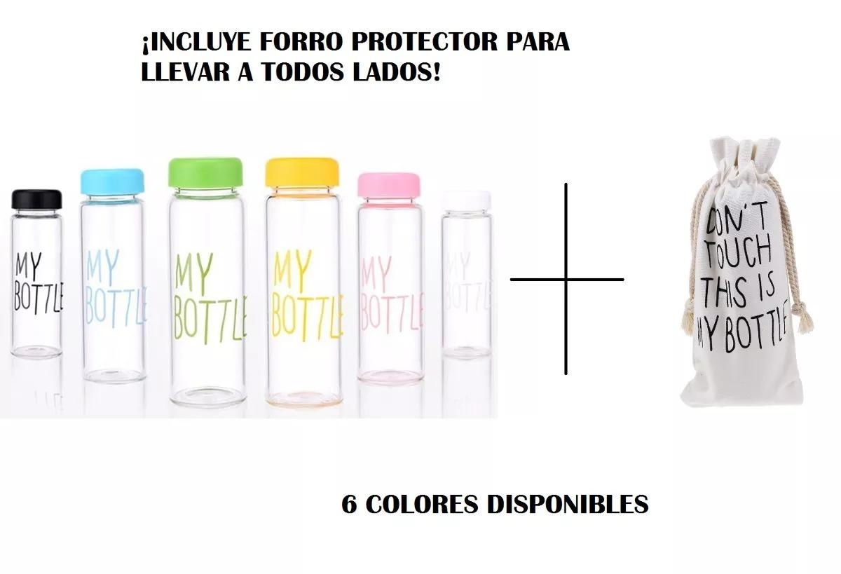 9e47d3a6e Botella Botilito Agua Jugo + Forro Llevar My Bottle Amarillo ...