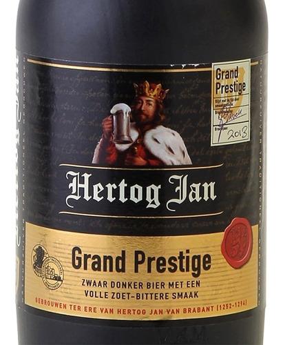 botella cerámica cerveza holanda hertog jam vacía, colección