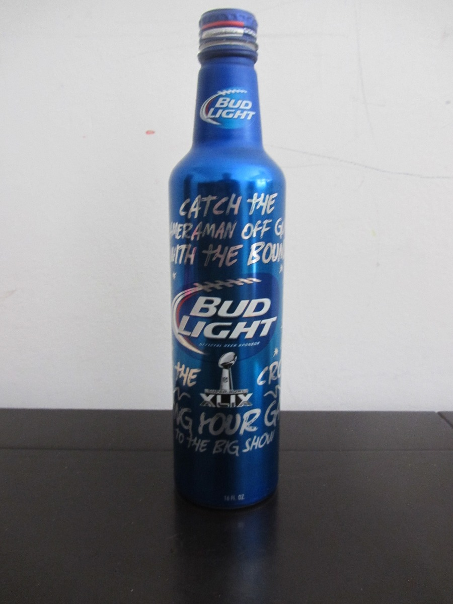 Botella Cerveza Aluminio Bud Light Superbowl Xlix. Cargando Zoom.