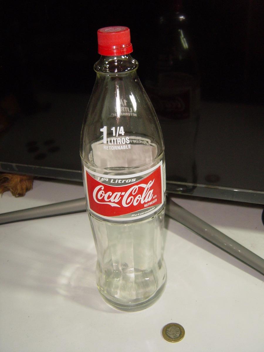 Botella coca cola vidrio sin l quido 1 1 4 de litro - Precio del vidrio ...
