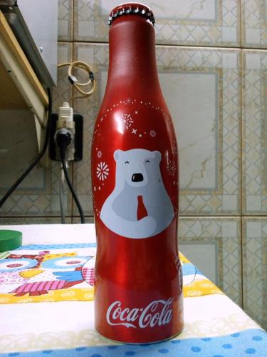 botella cocacola  coleccinable de aluminio llena de 250ml.