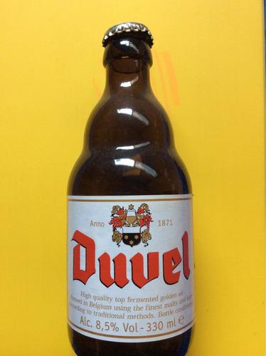 botella coleccionable. cerveza duvel