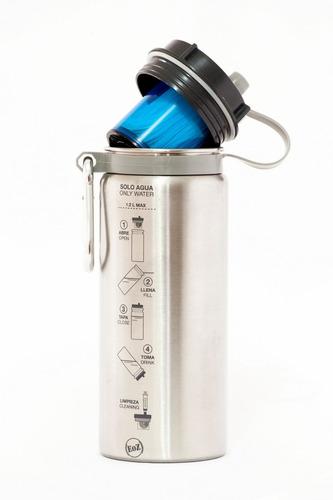 botella con filtro purificador agua boteoz carbon activado