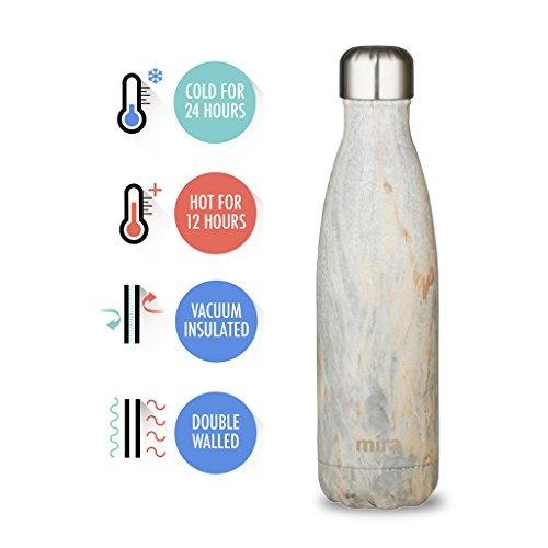 botella de agua aislada al vacío de mira | a prueba de fug