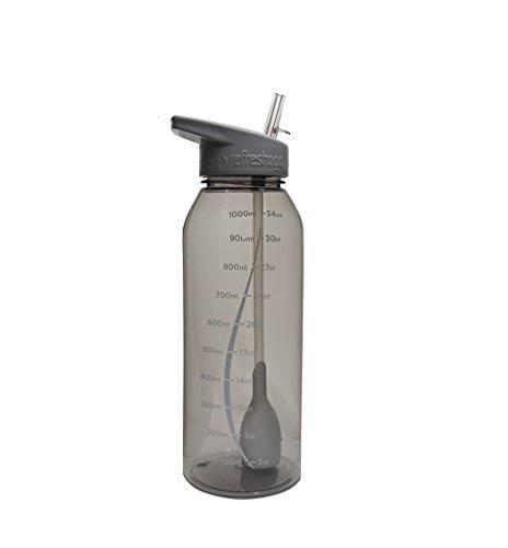 botella de agua filtrada milestone de 342 oz refresh2go - gr