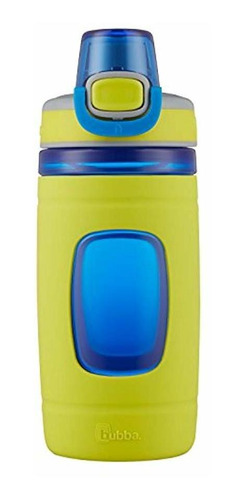 botella de agua flo kids,  oz, pera de neón con azul
