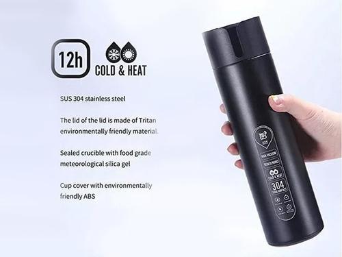 botella de agua inteligente, de acero inoxidable, 14 oz