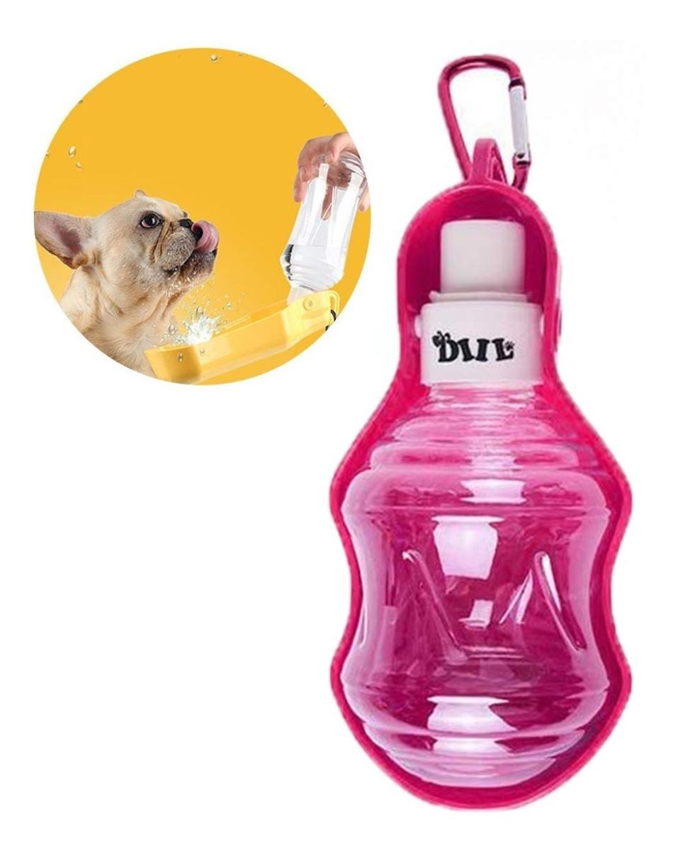 Comedero Bebedero Mascotas Botella De Agua Para Mascotas Caminar Viajar Camping Playa