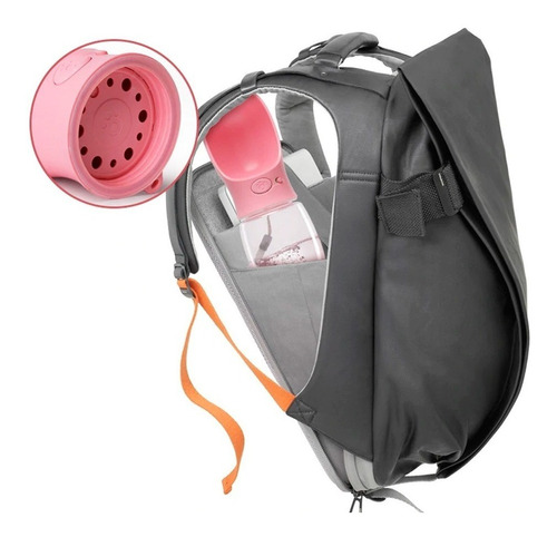 botella de agua portable para mascota 550ml rosa q1031