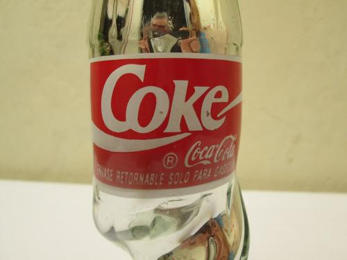 botella de coca cola amorfa de vidrio 350ml