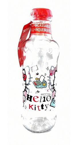 botella de plastico 390 ml hello kitty infantil divertida