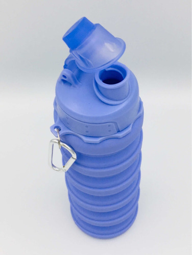 botella de silicona plegable+toalla microfibra y limpiador