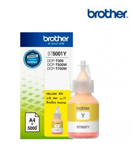 botella de tinta brother bt5001 amarillo sistema continuo