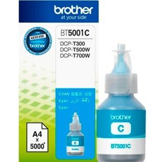 botella de tinta brother bt5001c color cyan