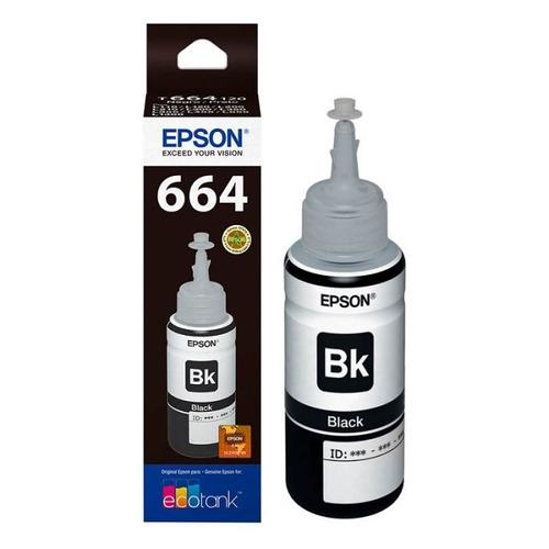 botella de tinta epson 664 negro