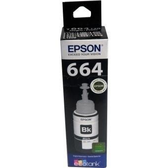 botella de tinta negra epson, modelo: t664120