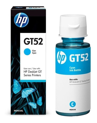 botella de tinta original cyan hp gt52 para gt5810 5820 415