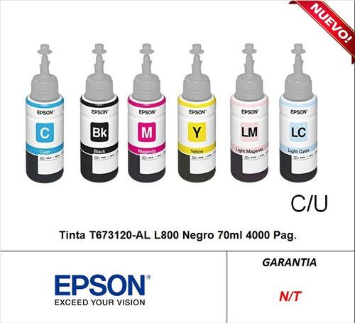 botella de tintas t673 originales epson l805 (sumcomcr)
