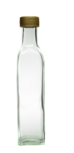 botella de vidrio 250cc. 12 unidades licores aceite souvenir