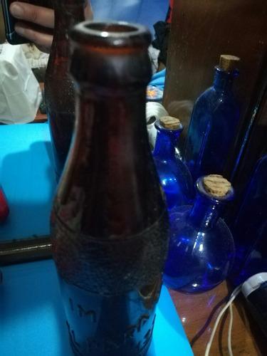 botella de vidrio color ambar el paraiso