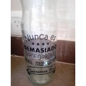 Botella De Vidrio Con Vinilos