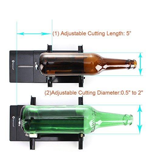 botella de vidrio cortador, genround botella, máquina corta