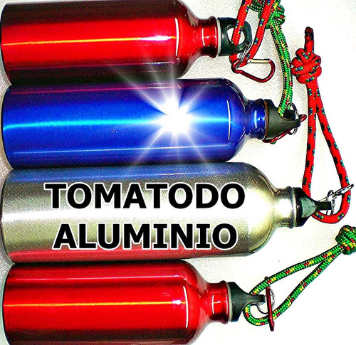 botella deporte tomatodo aluminio 1lt mas encendedor soplete