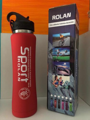botella deportiva 500ml en acero color rojo