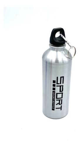 botella deportiva aluminio rosca liviana con gancho