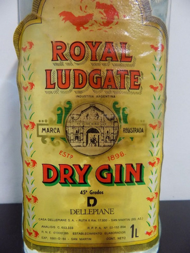 botella gin royal ludgate london dry gin fundación tzedaká 1