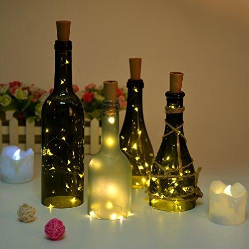 botella luz, agptek forma cork luminosos 30 pulgadas de ala