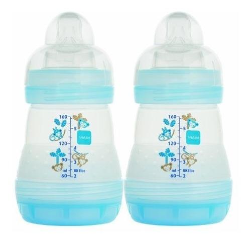 botella mam anti-colic, chico, 5 onzas, 2-conde