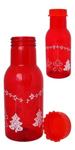 botella navideña plástica decorativa o de recordatorio