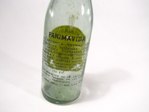 botella panimavida linares agua mineral antigua