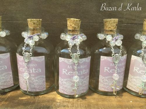 botella para agua bendita personalizada bautizo comunion xv