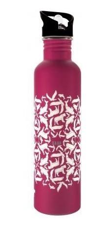 botella para agua de acero inoxidable 1lts marca ka-ab rosa