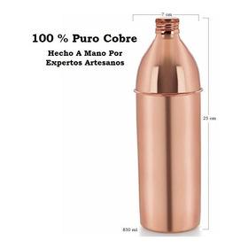 Botella Para Agua Hecha A Mano En Cobre Puro 850 Ml Ayurveda