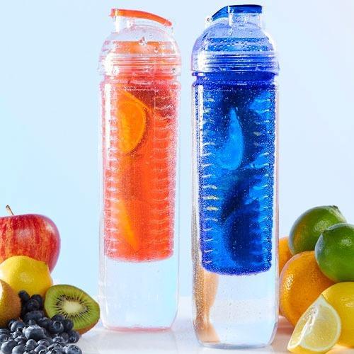 botella para agua infusión de frutas 100% natural 800ml