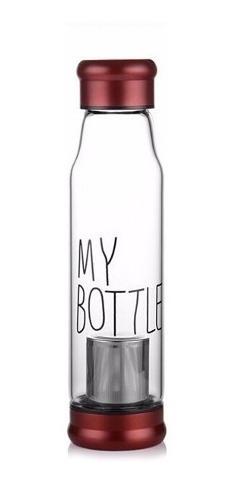 botella roja my bottle con filtro infusiones te proglobal