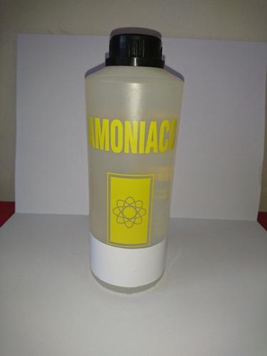 botella sellada 1 litro amoniaco puro hidróxido de amonio