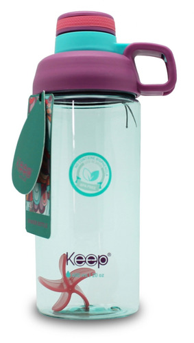 botella shaker keep para batidos, agua 600ml / onlineclub