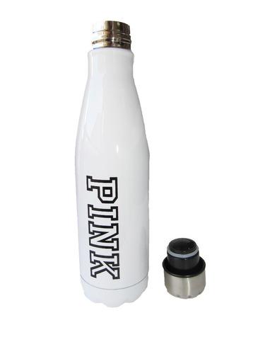 botella sport metalizada pink victoria's secret con bolsa