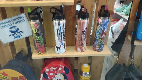 botella termica 500cc varios modelos y colores sport-latas