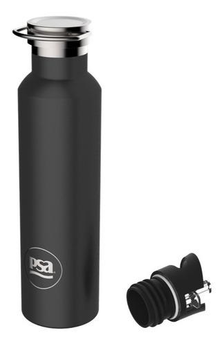botella térmica psa color negro