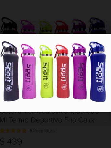 botella térmica siliconada 500 ml termo deportivo frío calor