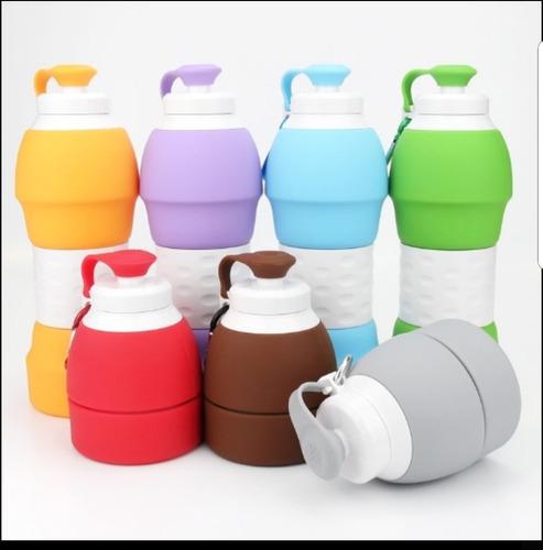 botella termo 580 ml plegable silicon grado alimenticio